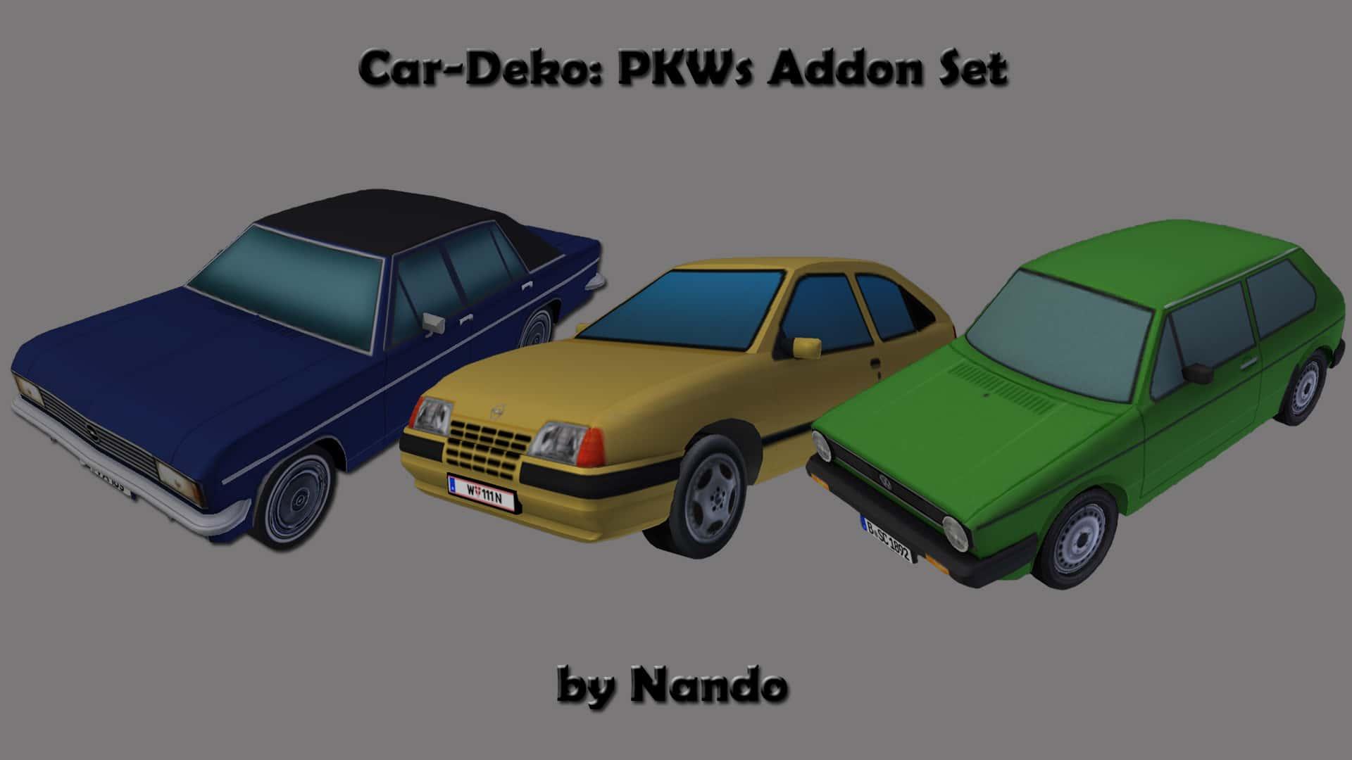 car asset deko set downloads train fever transport fever railway empire community. Black Bedroom Furniture Sets. Home Design Ideas
