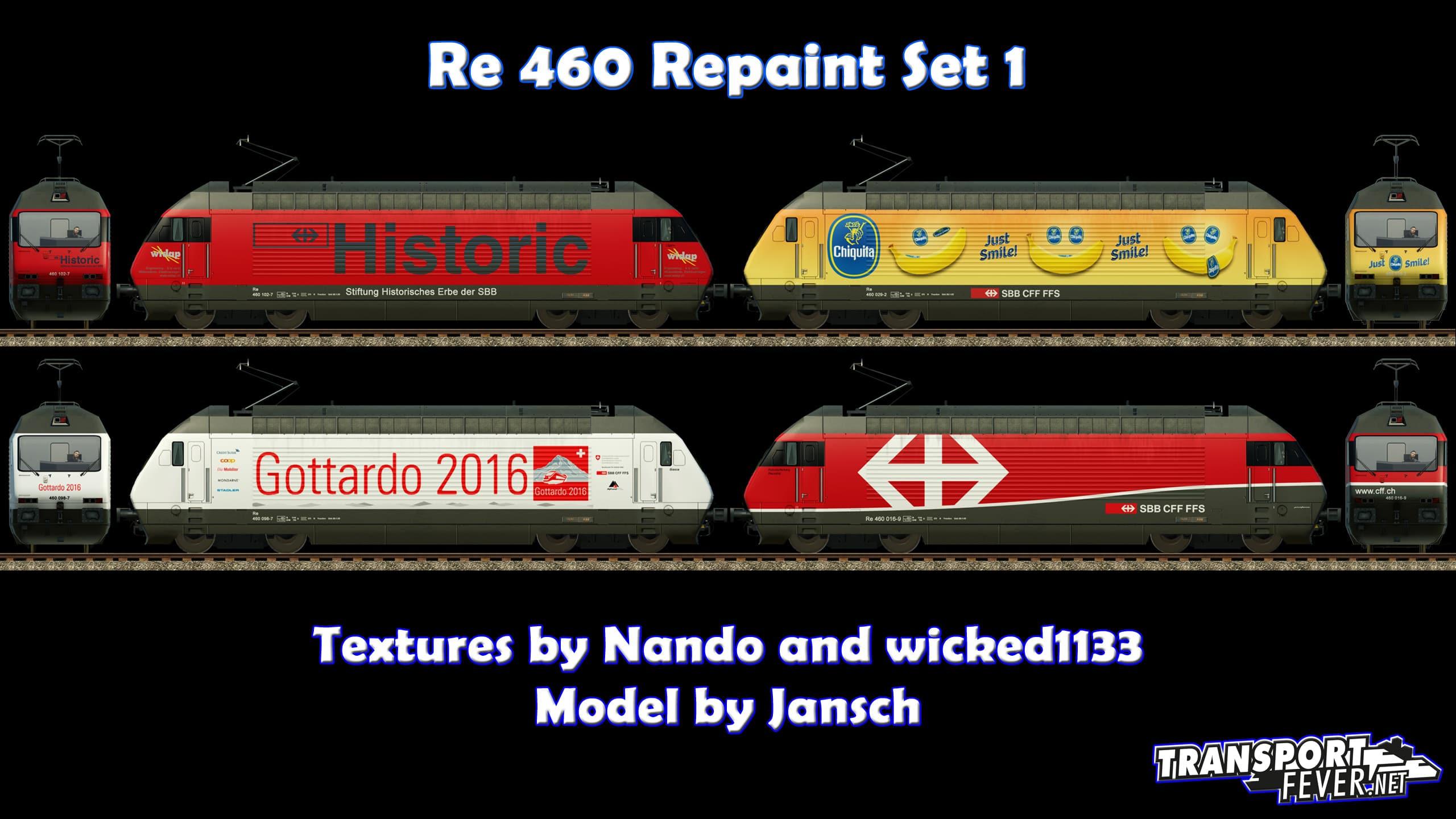 Re 460 Repaint Set 1 - Downloads - Train Fever / Transport Fever ...
