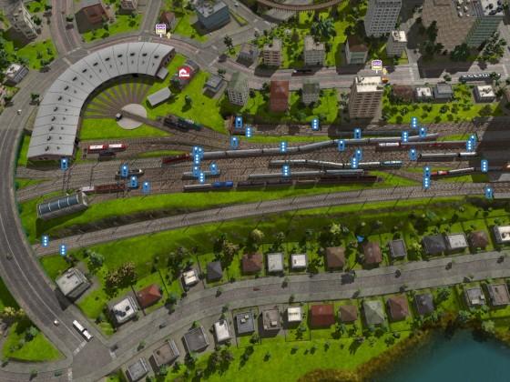 Maltby Betriebswerk und Vorfeld West - Übersicht