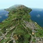 Übersicht über einen Teil der Insel
