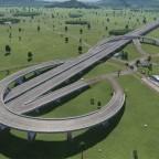 Screenshots von der Testkarte (Autobahnkreuz)