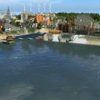 Alter und neuer Industriehafen der Hallig