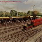 """""""100 Jahre Dampflokomotiv-Entwicklung"""" Postkarten Stil"""