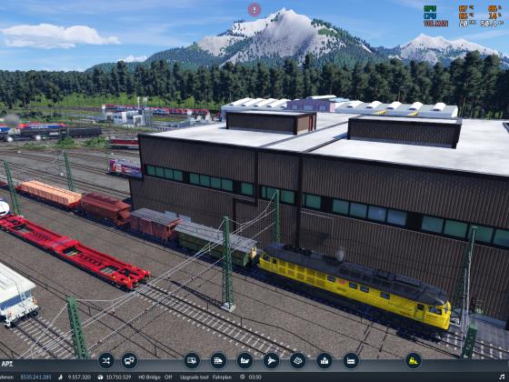 Skyland - Gleisbauzug