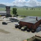 Der kleiner Militärstützpunkt