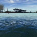 Anfahrt auf den Containerhafen