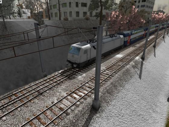 Streckenstück durch die Schluchten von Mesekow