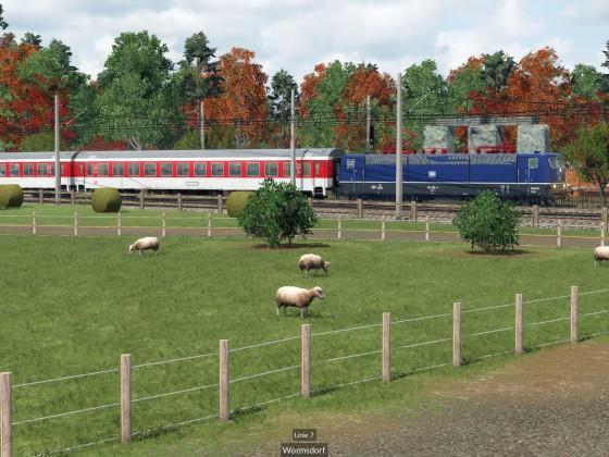 BR 181 mit EC im Saarland