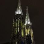 Votivkirche nach dem Abendessen