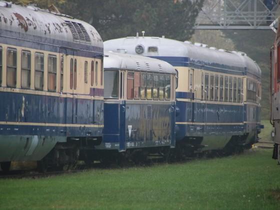 Schienenbus im Eisenbahnmuseum Strasshof