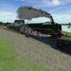 BR 18201 unter Dampf
