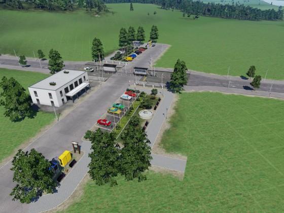 Kleine Grenzstation
