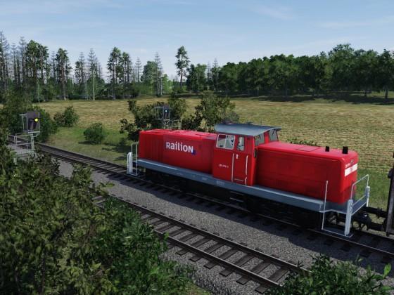 Nahgüterzug mit BR295