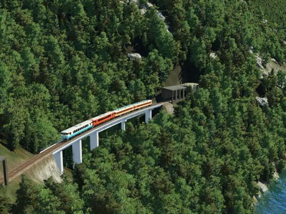 Japanese concrete bridge - girder bridge