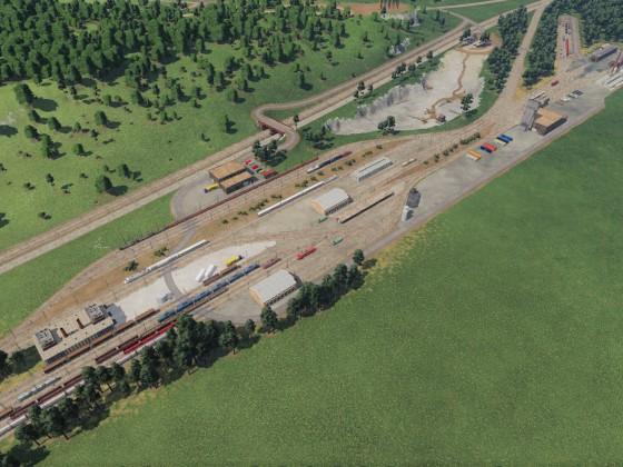 Zug Depot nach der Erweiterung