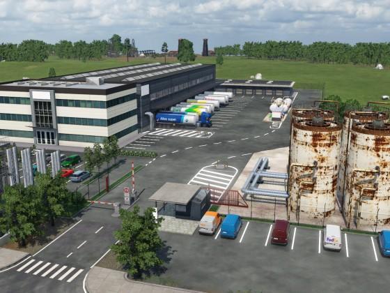 Neue LKW-Depot mal mit etwas Phantasie