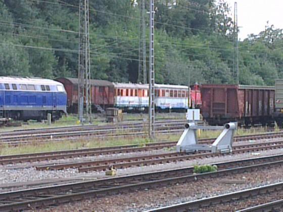 T 04 und VS 208 (ex. WEG) der Vaihinger Stadtbahn im Bahnhof Bietigheim-Bissingen