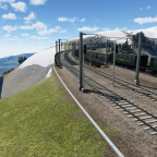 Bergstrecke mit Panorama