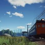 MP70 leaving suburban station