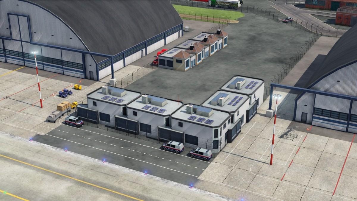 Die Finale Fassung des Flughafens mit dem dazugehörigen Abzweig