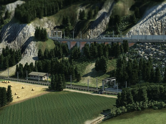 Neuer Streckenabschnitt (Unterfeldfelsberg)