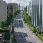 Hauptverkehrsstraße im Freifelder Norden