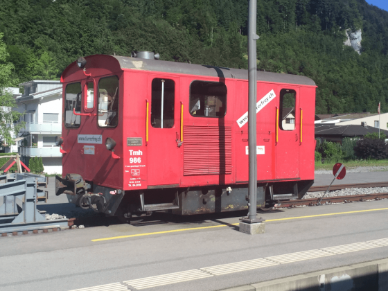 Alte Rangierlokomotive der Zentralbahn (CH)