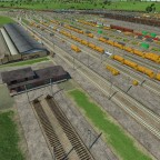 Hier mal ein Paar Güterzüge , die Entweder ankommen oder grad beladen abfahren...