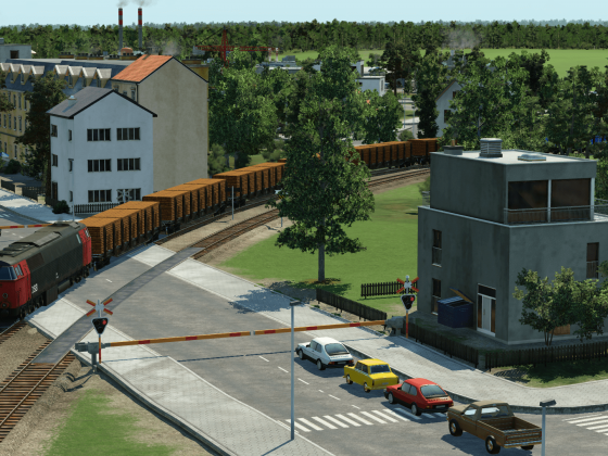 Heavy freighttrain