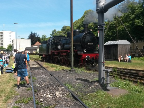 Dampftage im Bahnpark Augsburg mit Ammersee Dampfbahn BR38