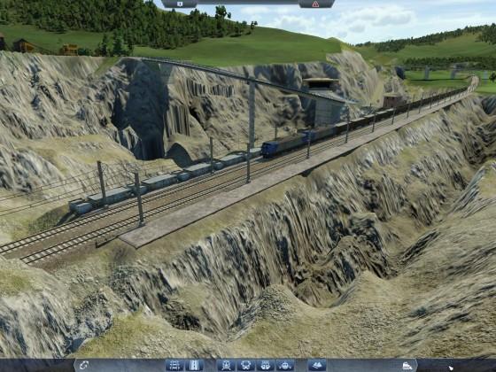Zug im Steinbruch