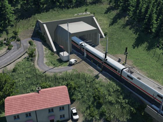 ICE 1 an der Neubaustrecke