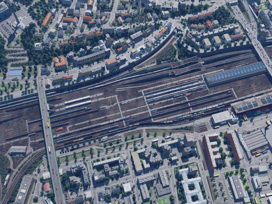Bahnbetriebswerk von oben