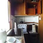 Küche im Abteil