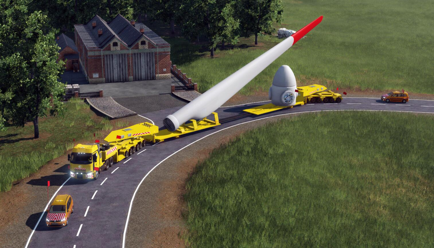 Wind turbine transportation