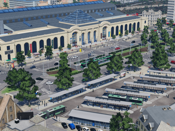 Bahnhofsvorplatz & ZOB