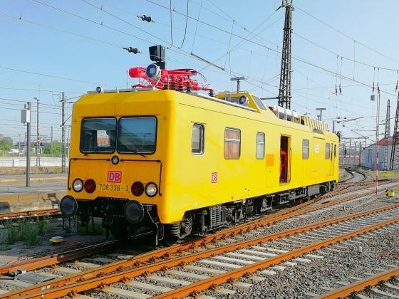 708 336 bei Messfahrten im Leipziger HBF