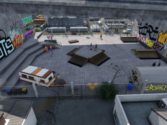 Skatepark under a viaduct. // Skatepark unter einem Viadukt.