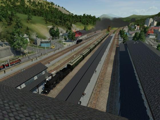 Voller Betrieb am Hauptbahnhof