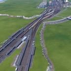 Einfahrt zum Hauptbahnhof