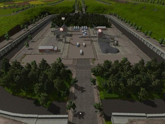 Güter Terminal im Industriegebiet.