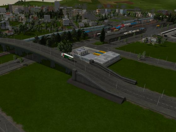Brückenrampen als Wegpunkte auf Gleis