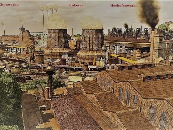 Karlsburger Eisenwerke - Postkarten Stil