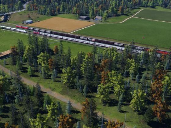 Güterzug-und Schnellfahrstrecke III