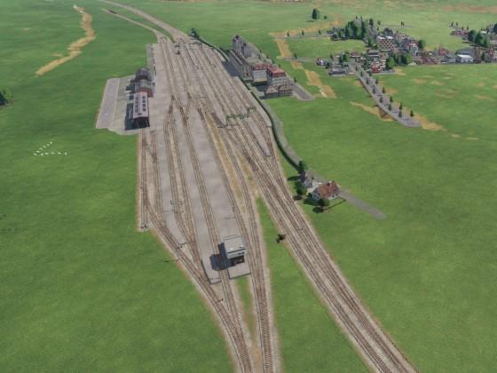 Erster Bahnhofsbau in TPF2