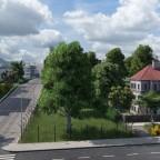 Einfahrt Ringier Areal und Stiftung Nische