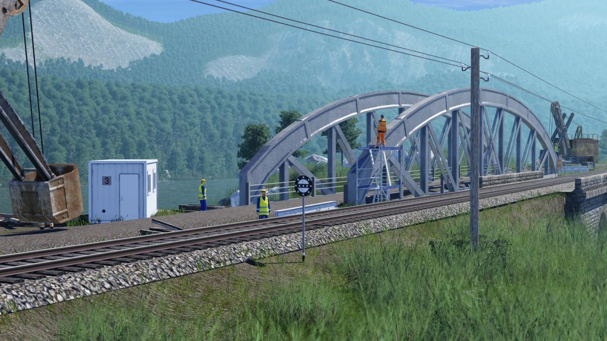 Errichtung einer neuen Brücke.