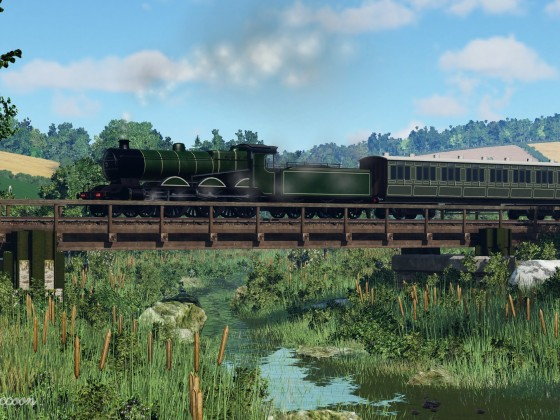 [TpF1] LB loco crossing the small stream