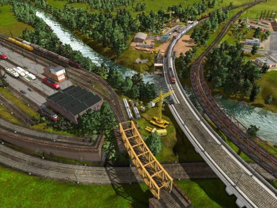WIP Neubaubrücke mit Ausweichgleis 2
