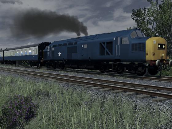 Class 37 with a passenger service